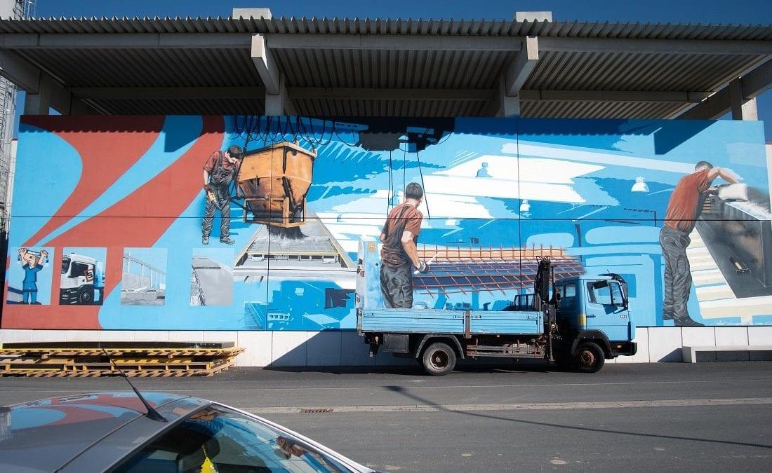 Künstlerisches Wandbild - Graffiti Paderborn- ArtMano Edwin Bormann