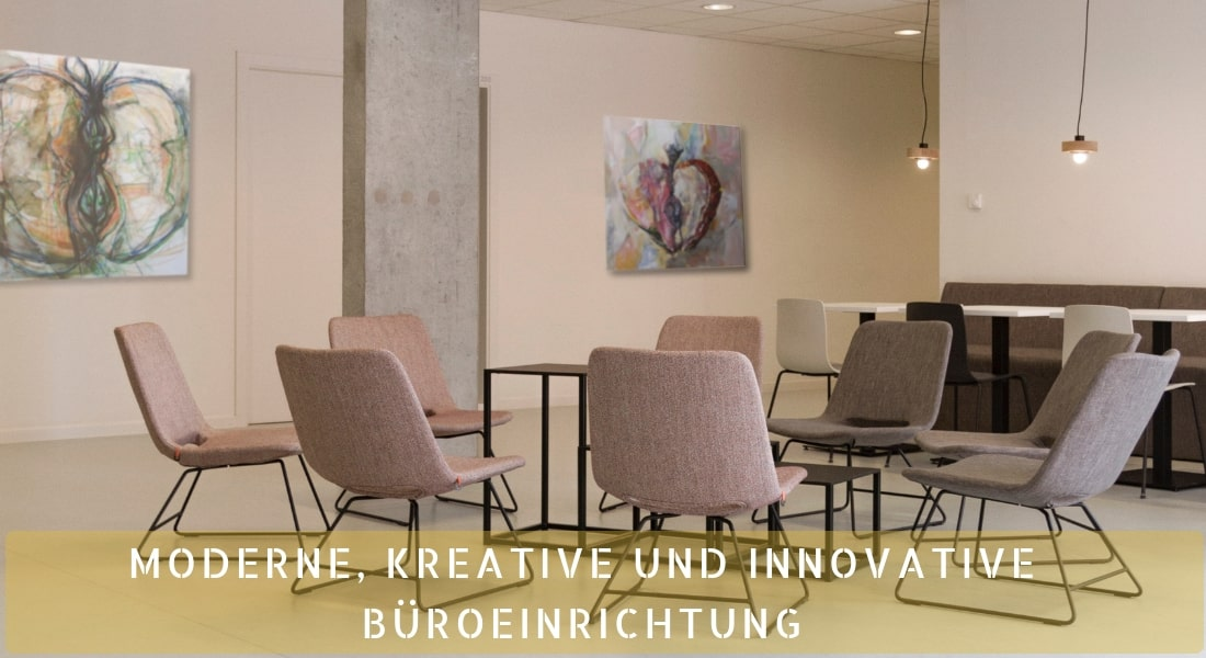 Moderne, kreative und innovative Büroeinrichtung-min mit Kunst und Kreativität fürs Büro