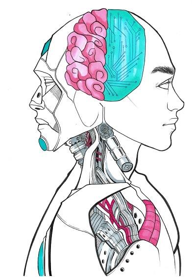 Kunst für Unternehmen - Künstliche Intelligenz wird als Bild dargestellt